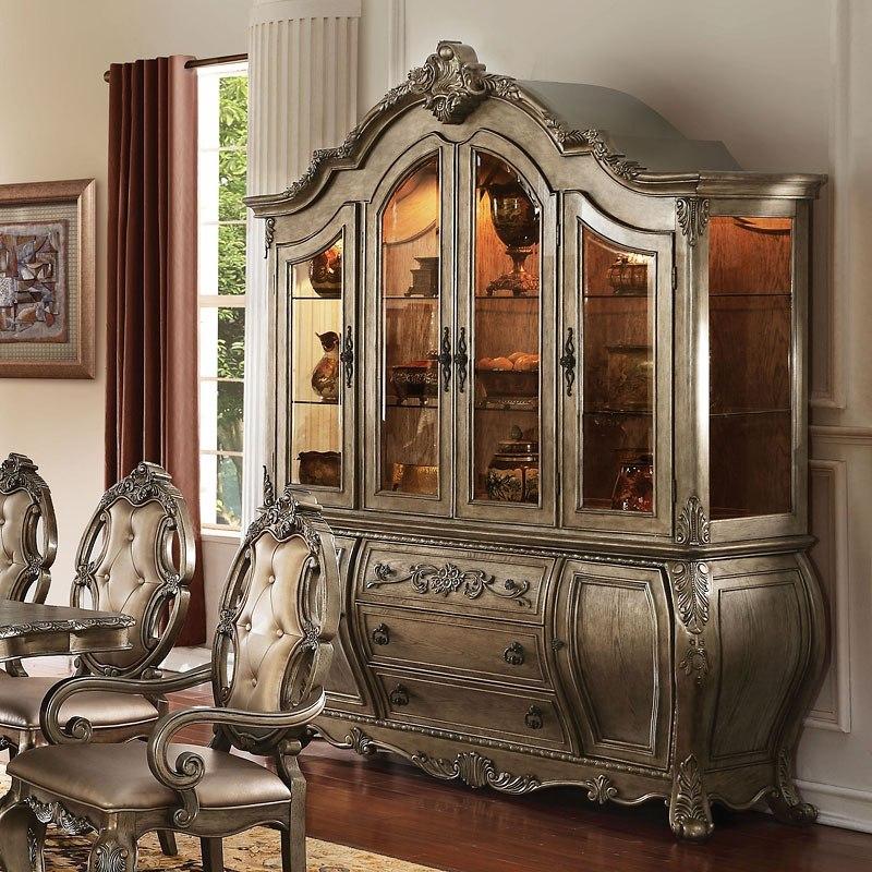 Oak Dining Room Sets With Hutch: Ragenardus Dining Room Set (Vintage Oak) Acme Furniture