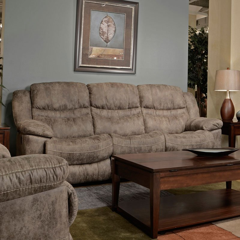 Valiant Power Triple Reclining Sofa W Drop Table Marble
