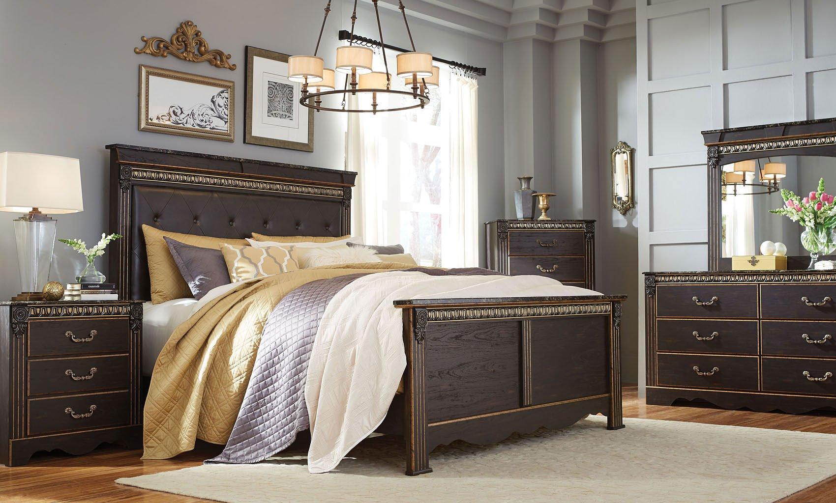 harviell panel bedroom set standard furniture furniture cart. Black Bedroom Furniture Sets. Home Design Ideas