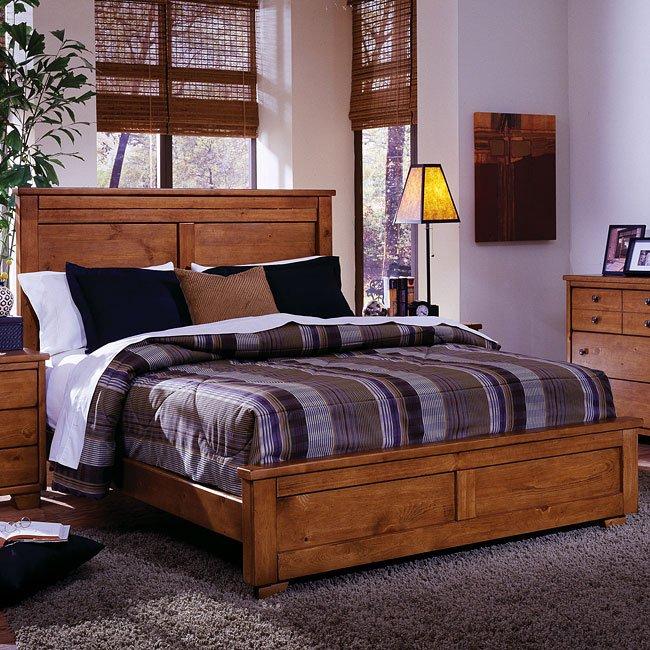 Diego Panel Bed (Cinnamon Pine)