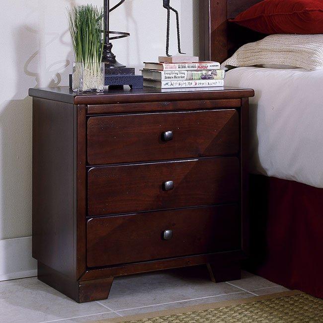 Diego Nightstand Espresso Pine Progressive Furniture