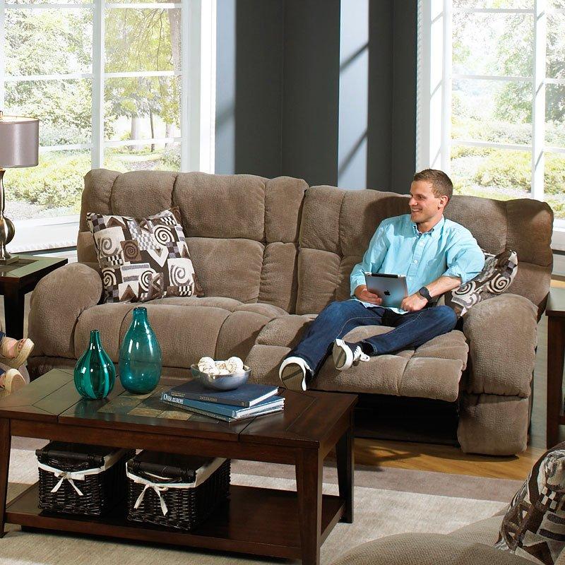 Siesta Power Lay Flat Reclining Sofa (Porcini)