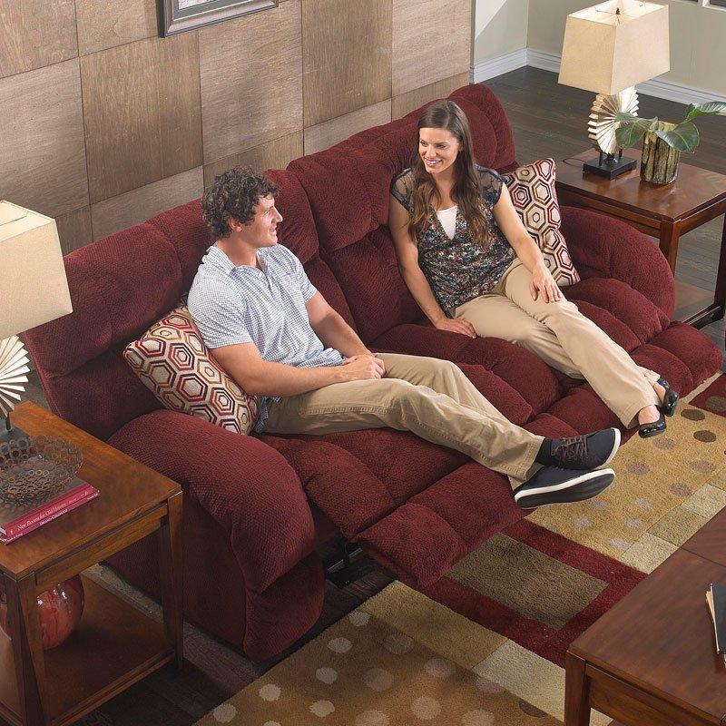 Siesta Power Lay Flat Reclining Sofa (Wine)