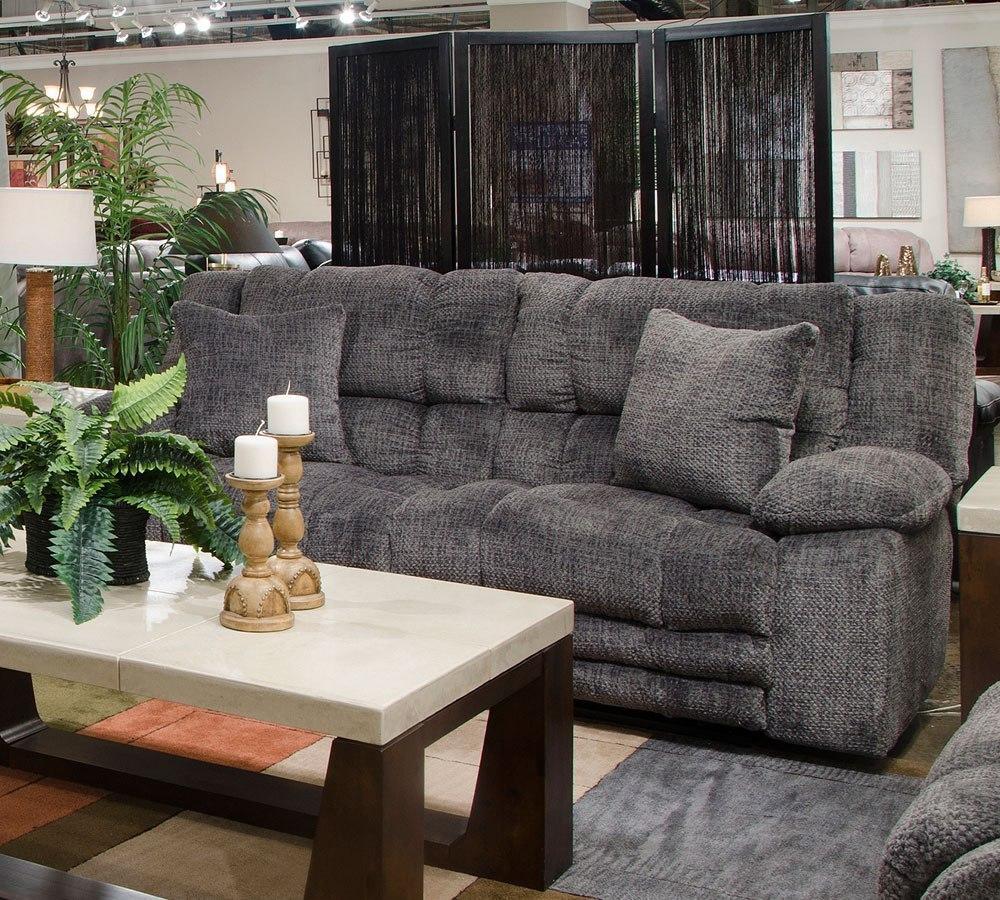Branson Power Lay Flat Reclining Sofa (Pewter) Catnapper | Furniture ...