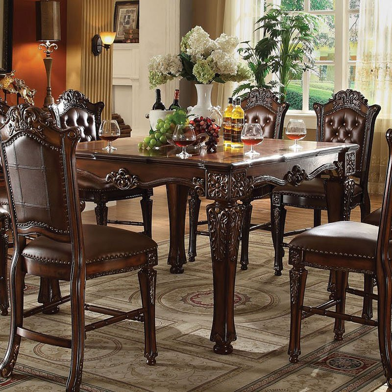 Vendome Square Counter Height Dining Set Acme Furniture
