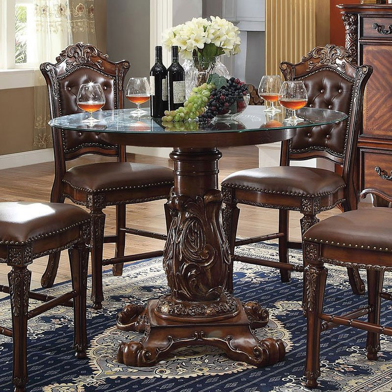 200afd114b17d5 Vendome Round Counter Height Dining Table Acme Furniture | Furniture Cart