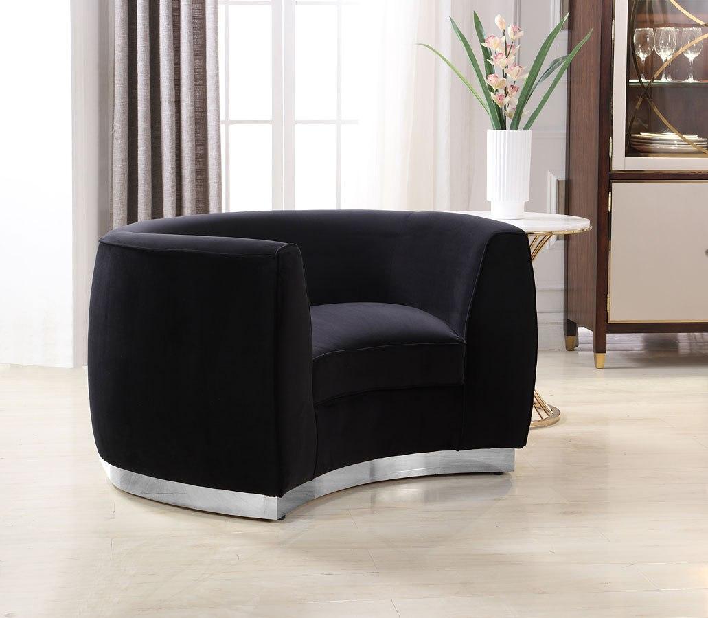 Ashley Furniture Meridian Idaho: Julian Chair (Black/ Chrome) Meridian Furniture