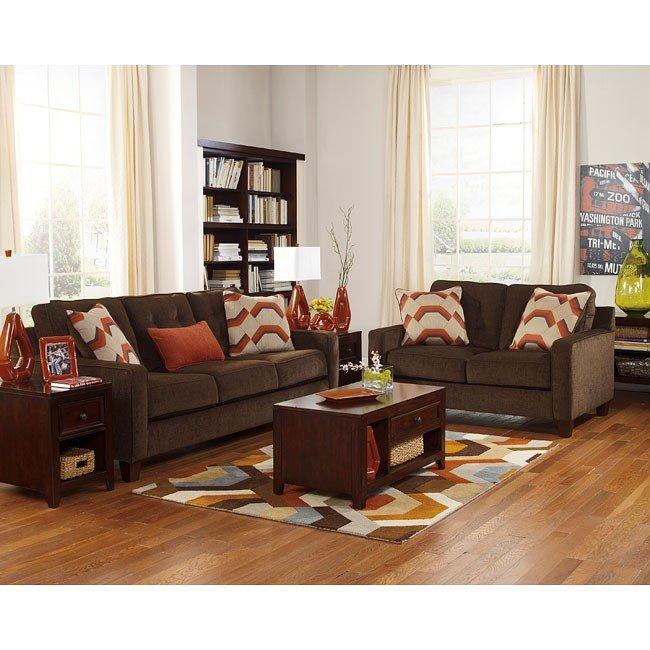 Verbena Chocolate Living Room Set