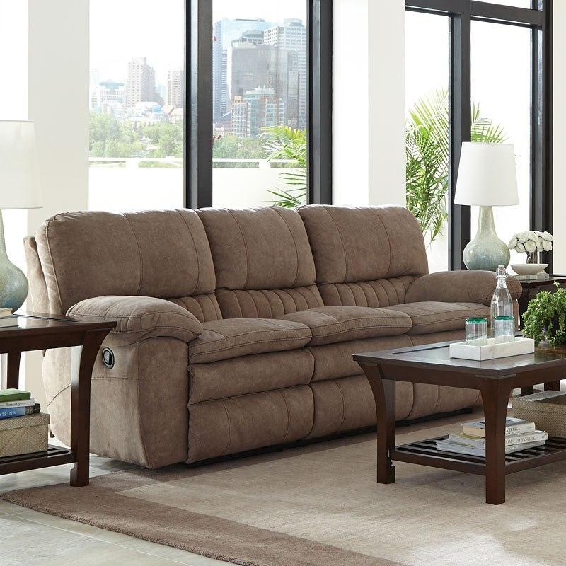 Reyes Power Lay Flat Reclining Sofa (Portabella) Catnapper ...