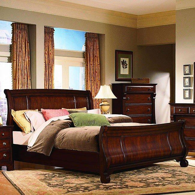 1cf313e4a3ac Georgetown Sleigh Bed (Cherry) (Queen) by Vaughan Furniture
