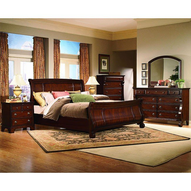 Exceptionnel Georgetown Sleigh Bedroom Set (Cherry)
