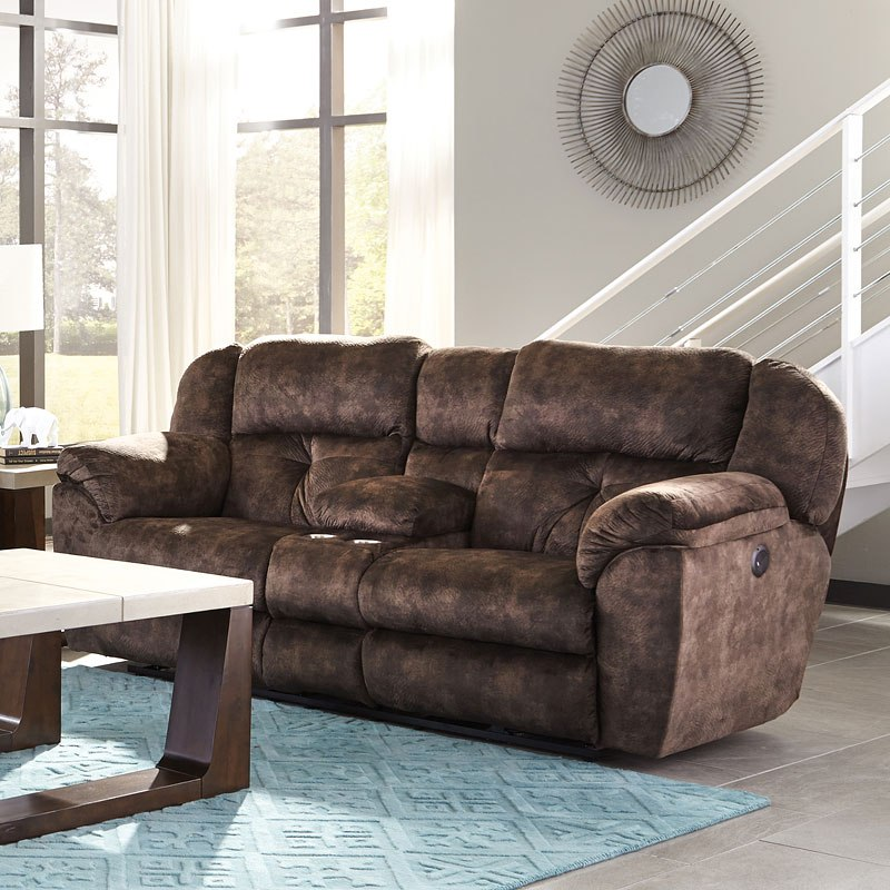 Carrington Power Lay Flat Reclining Living Room Set (Dusk