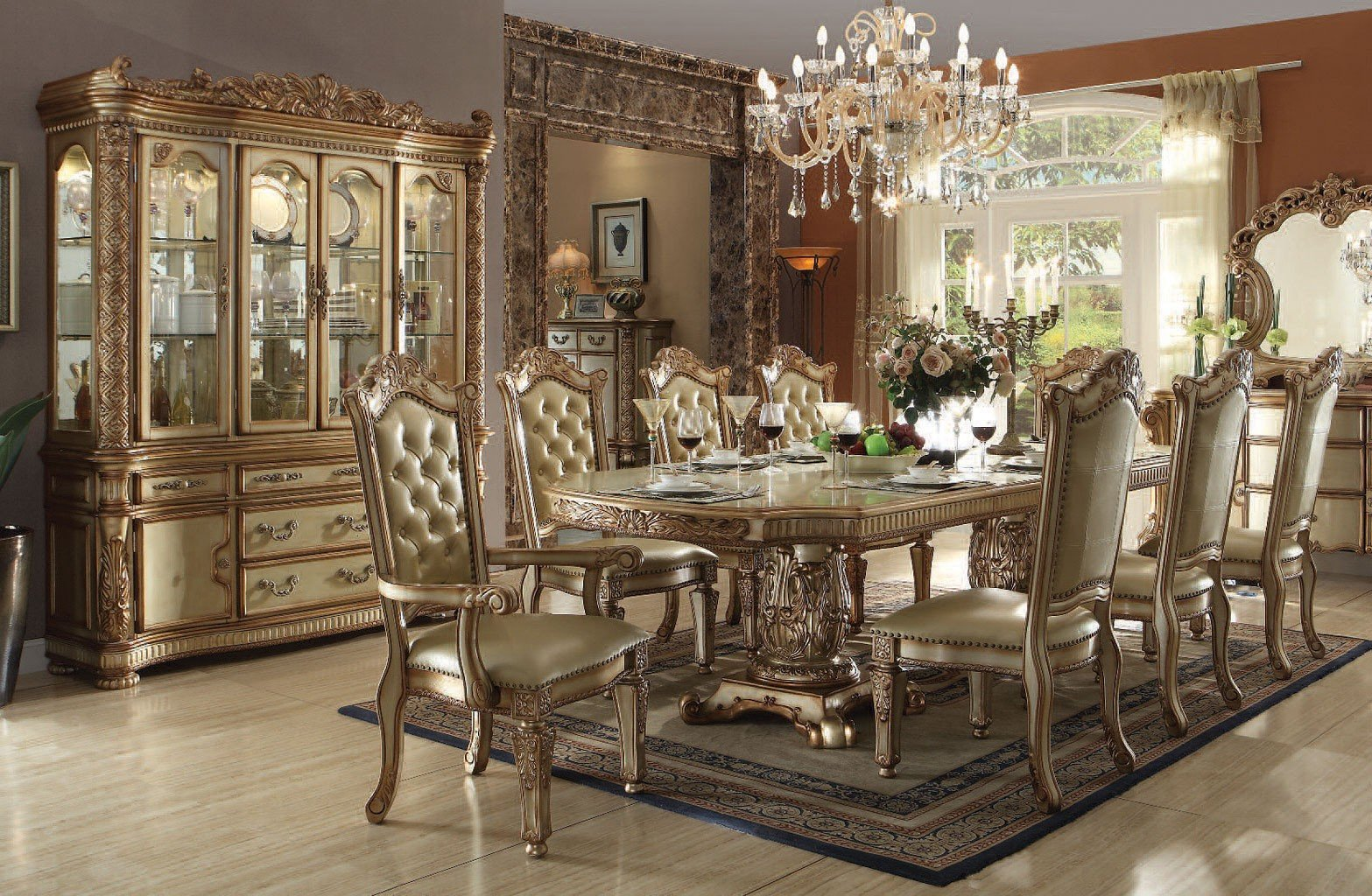 Vendome Dining Room Set (Gold Patina)