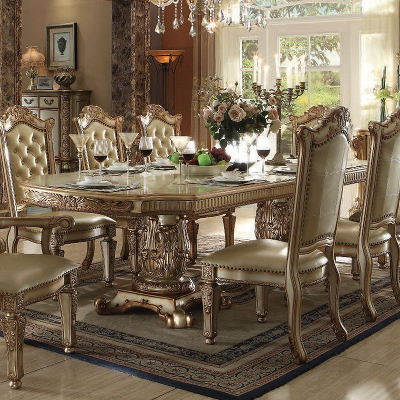 Vendome Dining Room Set (Gold Patina) Acme Furniture, 1