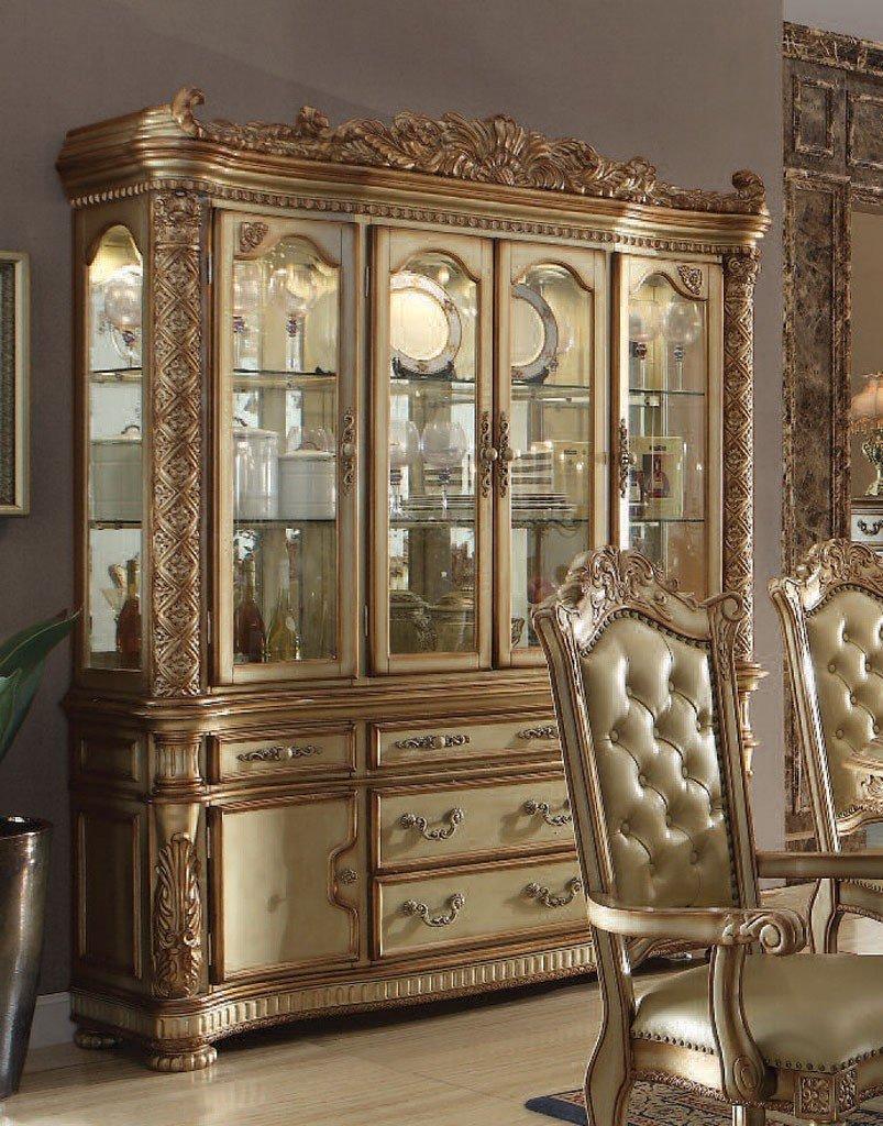 Vendome Dining Room Set Gold Patina Acme Furniture