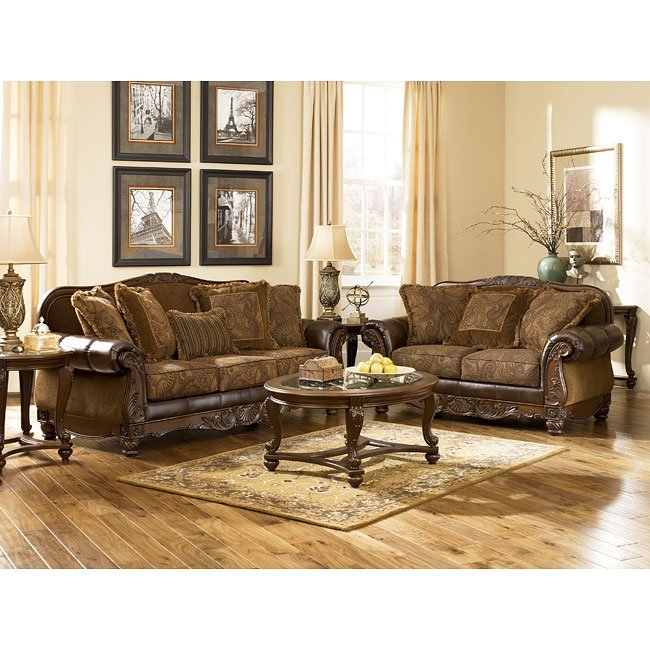 Fresco Durablend Antique Living Room Set Signature