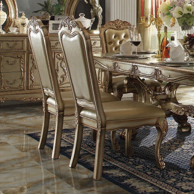 Dresden Side Chair (Gold Patina) (Set Of 2) By Acme Furniture