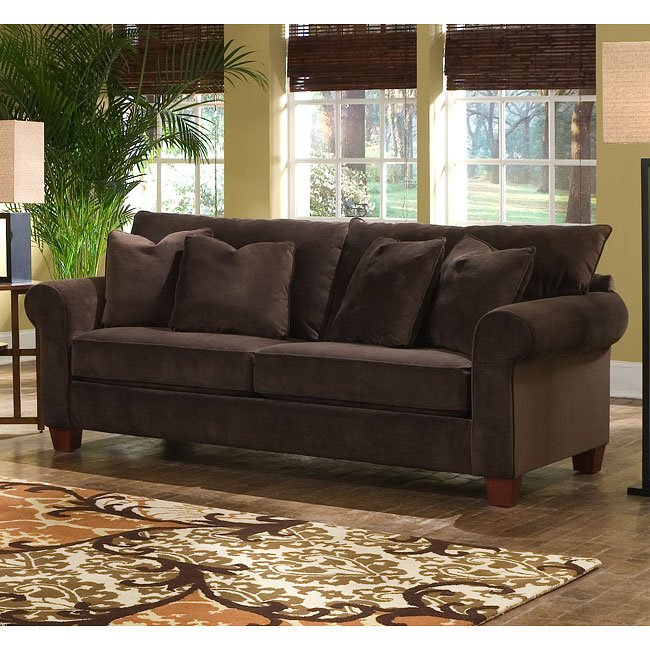 Hurry Up For Your Best Cheap Sofas On Sale: Hideaway Living Room Set (Belsire Chocolate) Klaussner