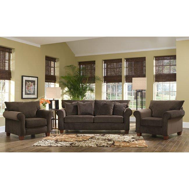 Hideaway Living Room Set Belsire Chocolate Klaussner