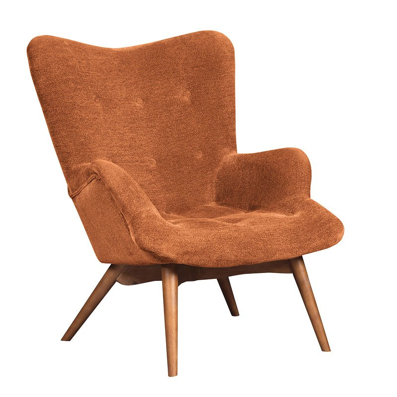 Pelsor Orange Accent Chair