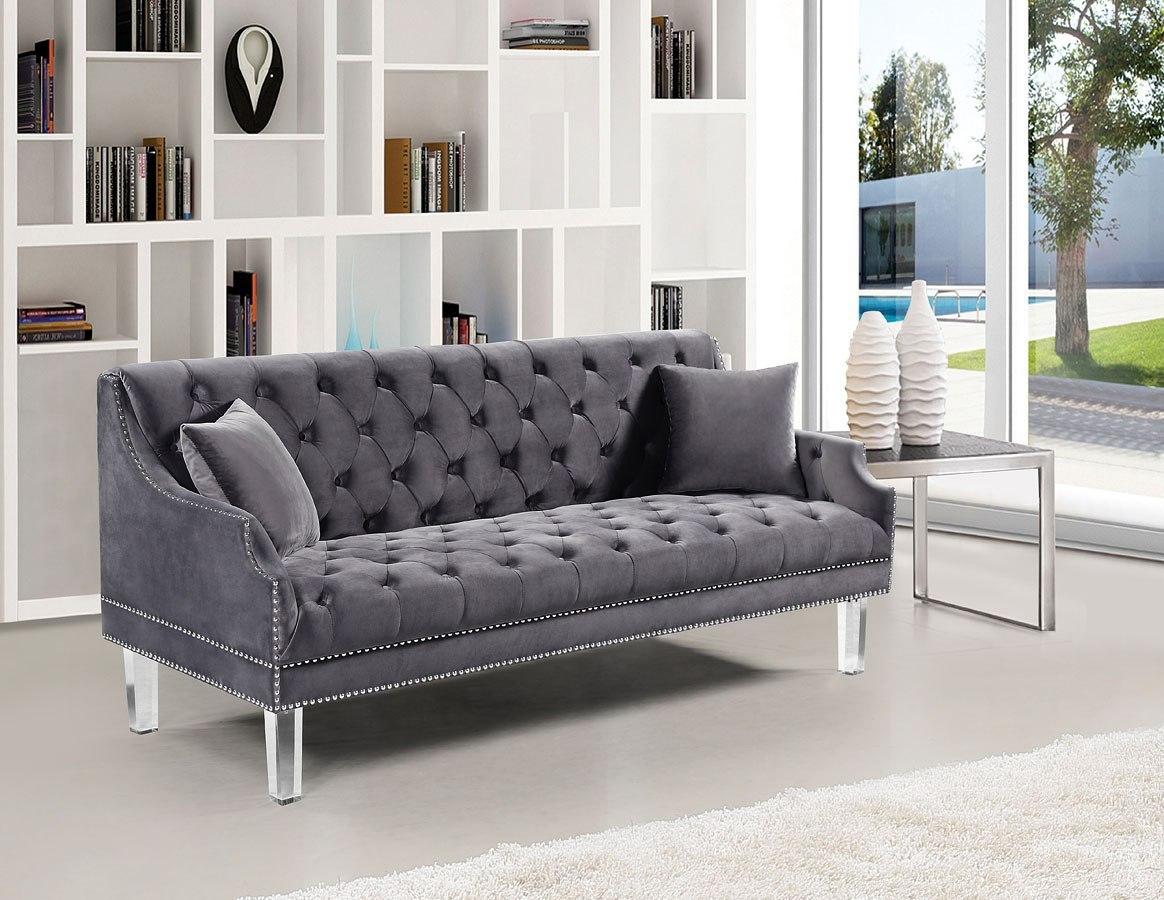 Roxy Sofa Grey Meridian Furniture