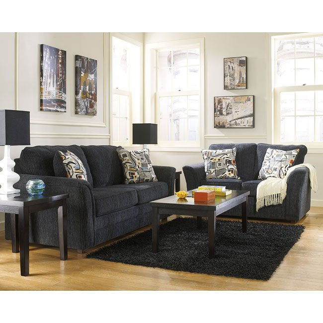 Devante Slate Living Room Set