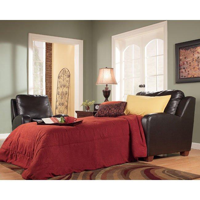 Meagan - Chocolate Chair and a Half w/ Sleeper