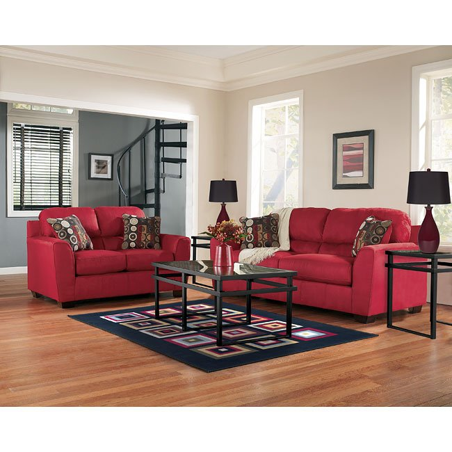 Thornton - Red Living Room Set