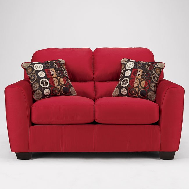 Thornton - Red Loveseat