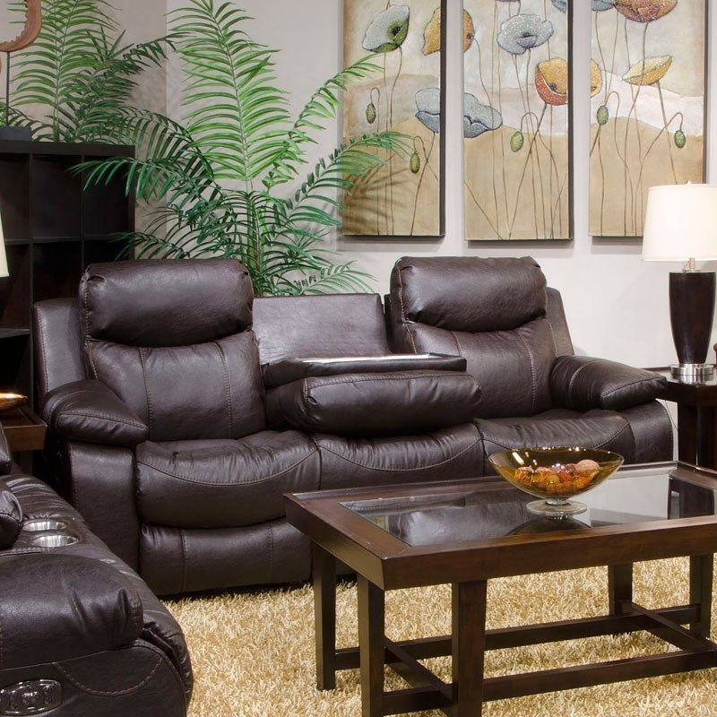 Connor Power Lay Flat Reclining Sofa W Drop Down Table