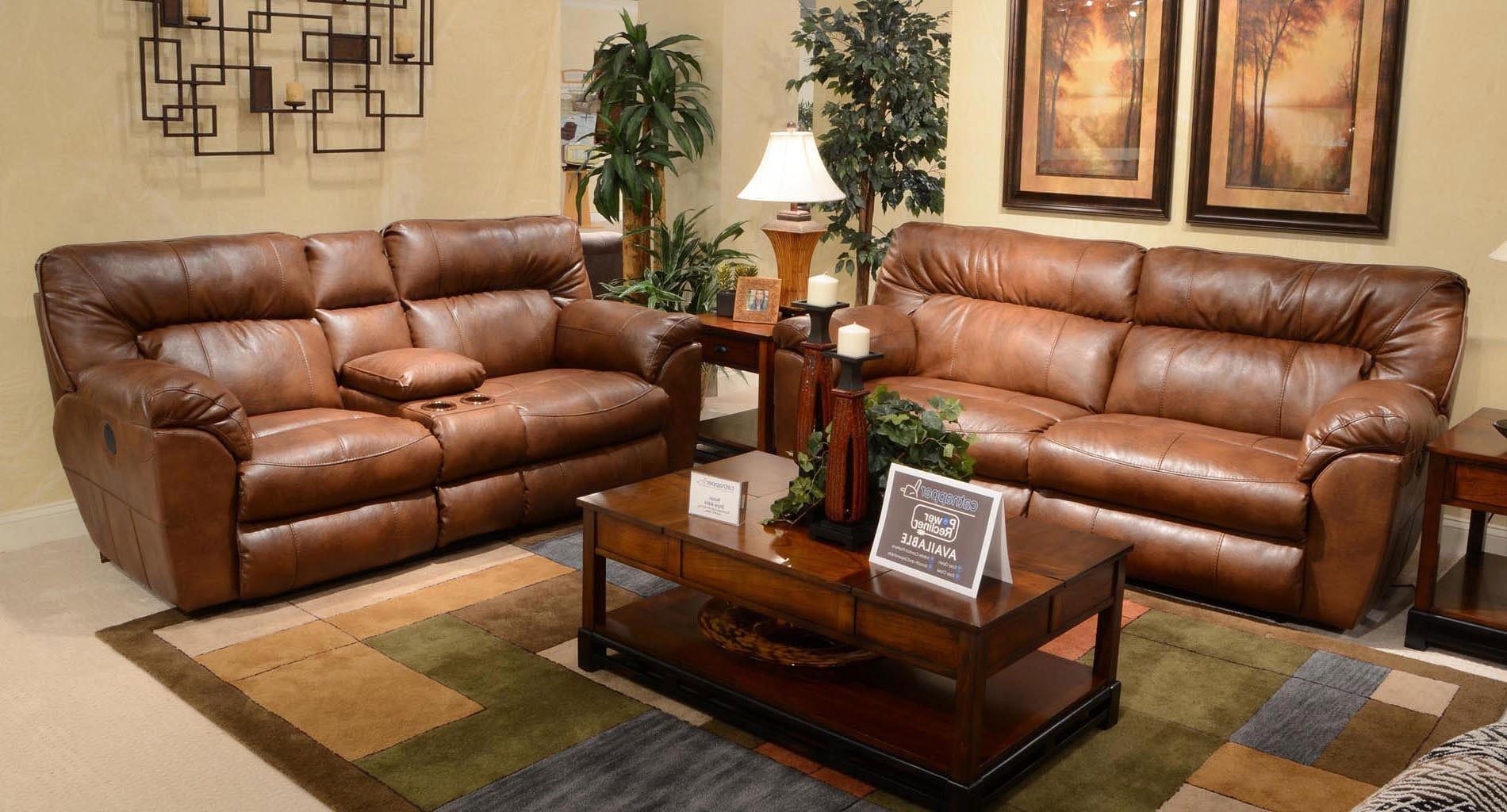 Nolan Power Reclining Living Room Set (Chestnut)