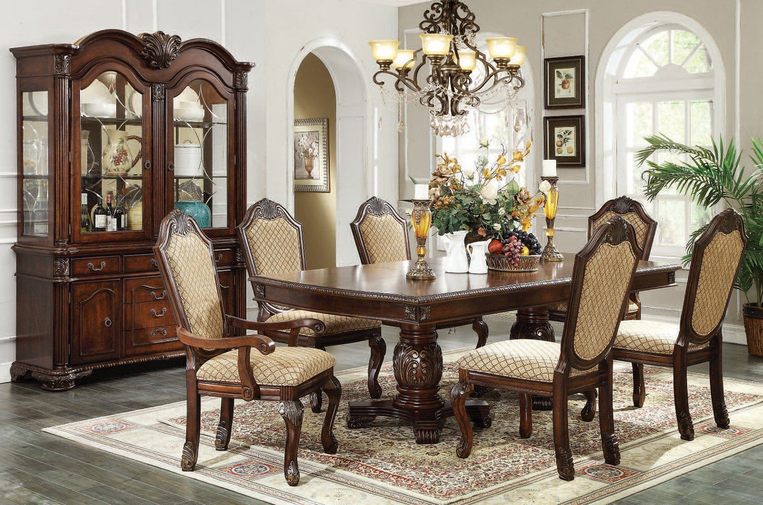 Chateau De Ville Dining Room Set Espresso Acme Furniture
