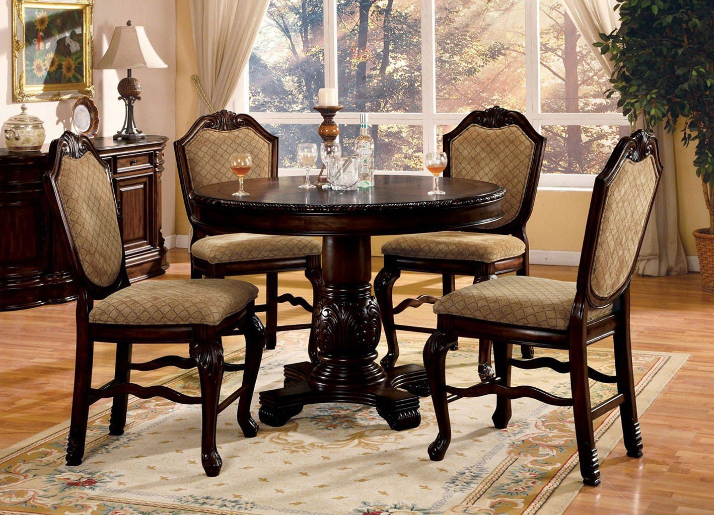Chateau De Ville Counter Height Dining Set (Espresso)