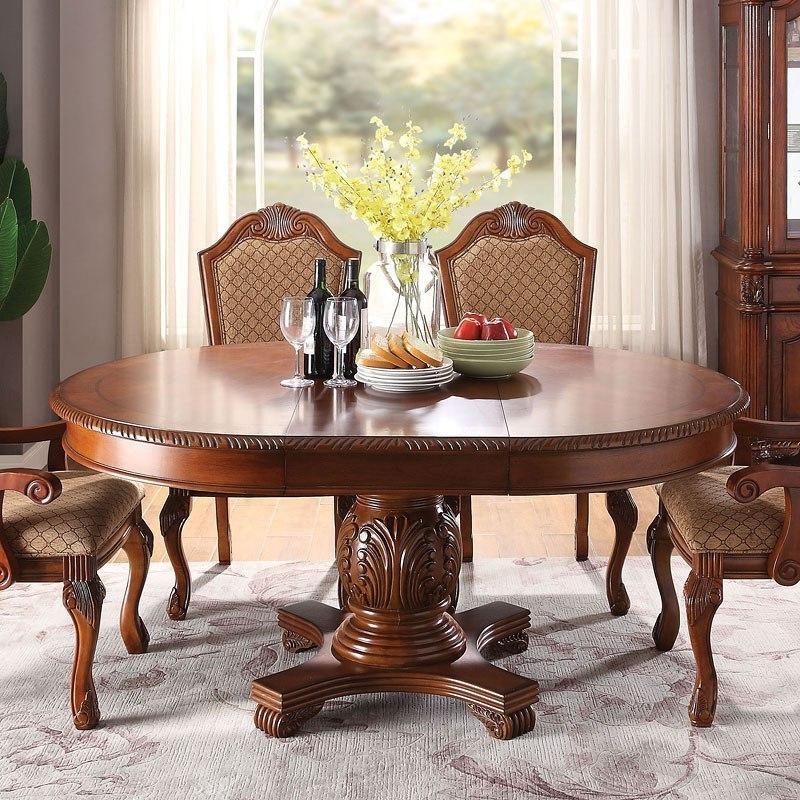 Chateau De Ville Round Dining Table Cherry Acme