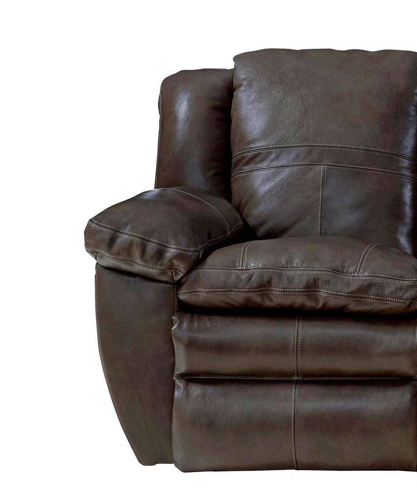 Aria Power Lay Flat Reclining Living Room Set Chocolate
