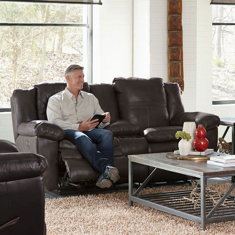Aria Power Lay Flat Reclining Loveseat W Console
