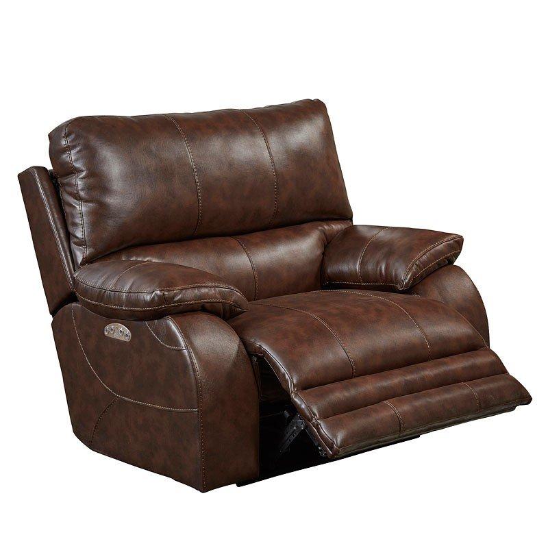 Sheridan Power Lay Flat Reclining Living Room Set (Java
