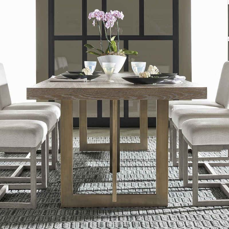 modern jamison dining table (charcoal) universal furniture Charcoal Dining Table