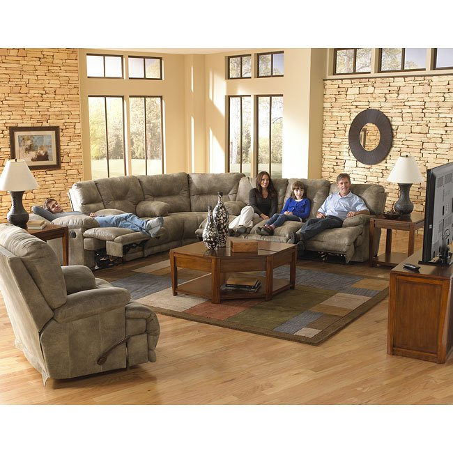 Voyager Lay Flat Reclining Sectional Living Room Set