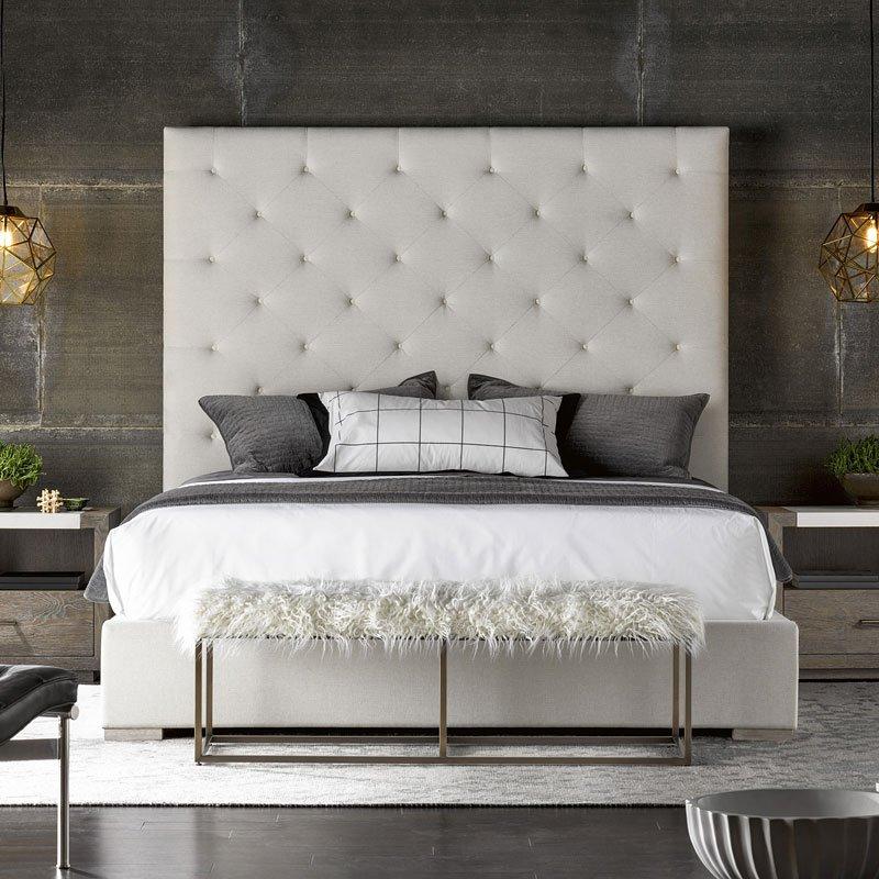 Modern Brando Upholstered Bed (Quartz)