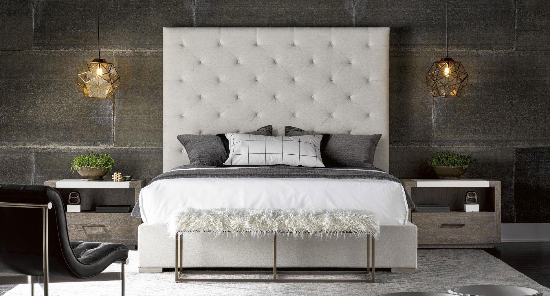 Modern Brando Upholstered Bedroom Set (Quartz) Universal