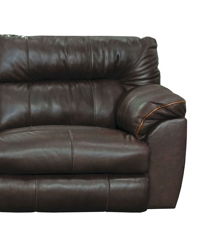 Milan Lay Flat Reclining Living Room Set Chocolate