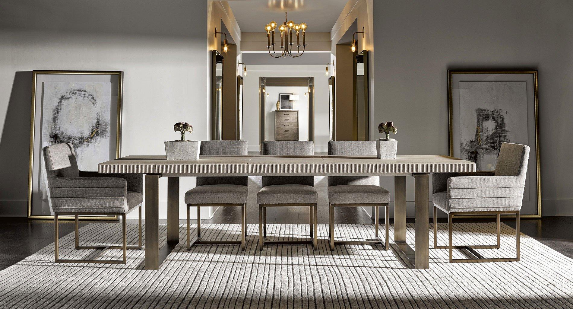 Modern Robards Rectangular Dining Room Set Quartz