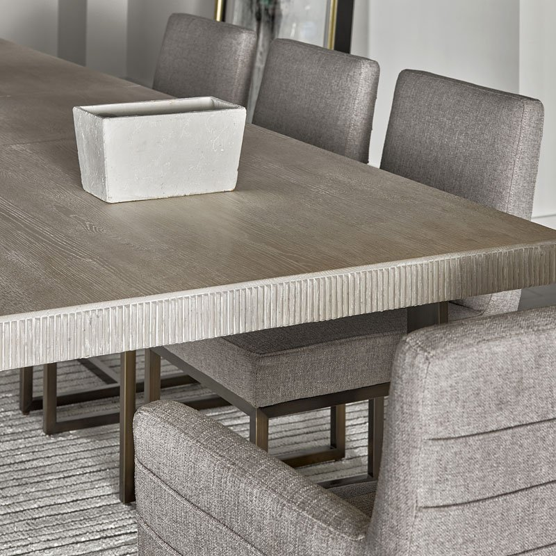 Rectangular Dining Table With Bench: Modern Robards Rectangular Dining Table (Quartz) Universal