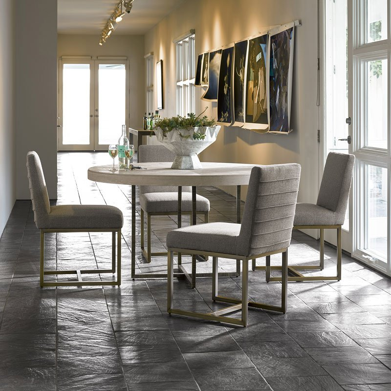 Contemporary Round Dining Room Sets: Modern Robards Round Dining Room Set (Quartz) Universal