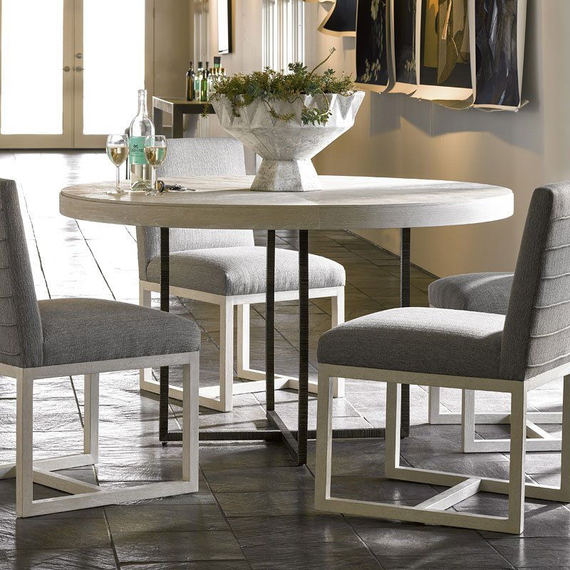 Modern Robards Round Dining Table Quartz Universal Furniture