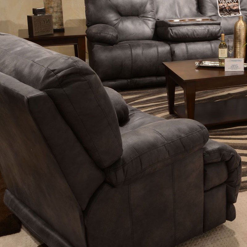 Voyager Reclining Sectional Set Slate Catnapper