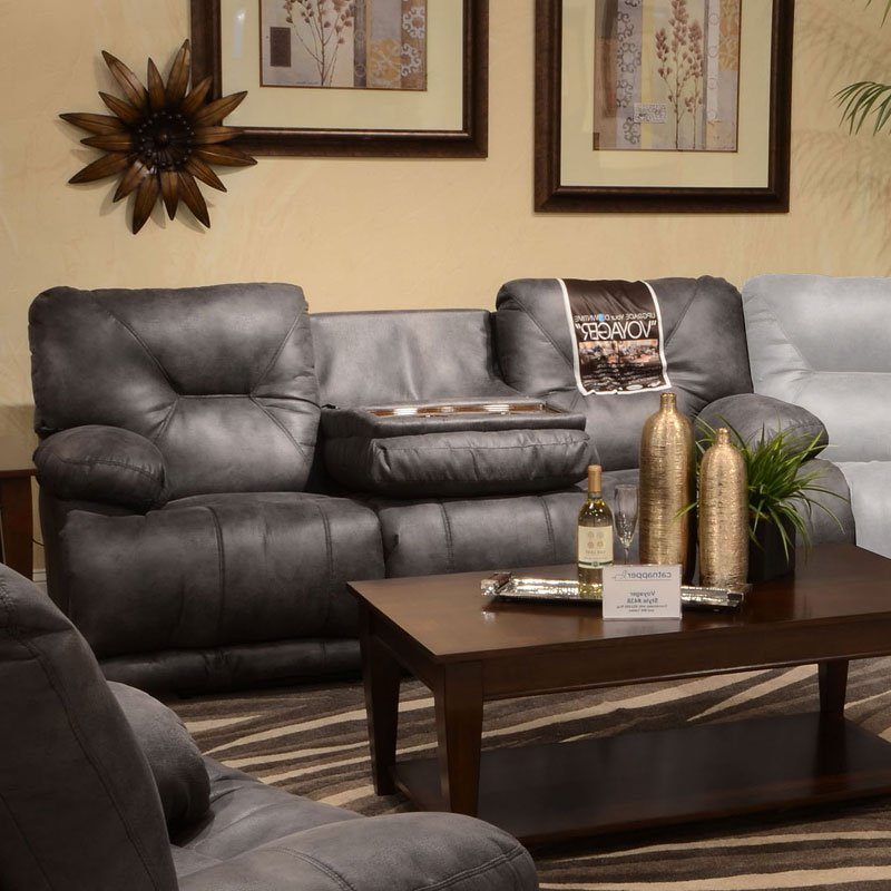 Voyager Power Lay Flat Reclining Sofa (Slate)