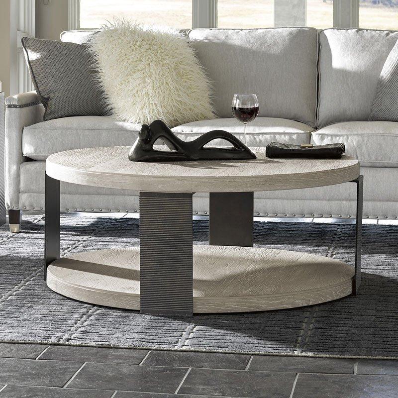 Modern Wilder Round Cocktail Table (Quartz)