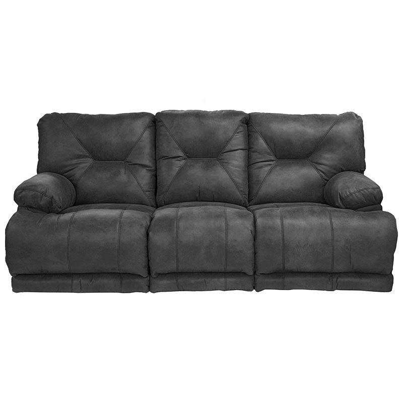 Voyager Power Lay Flat Triple Reclining Sofa (Slate)